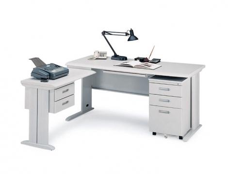 CD辦公L型桌(含側桌+吊櫃)