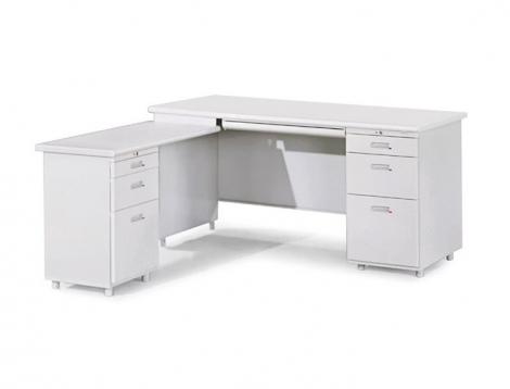 L型辦公桌(附三抽式側邊桌)