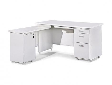 L型辦公桌(附開門式側邊桌)